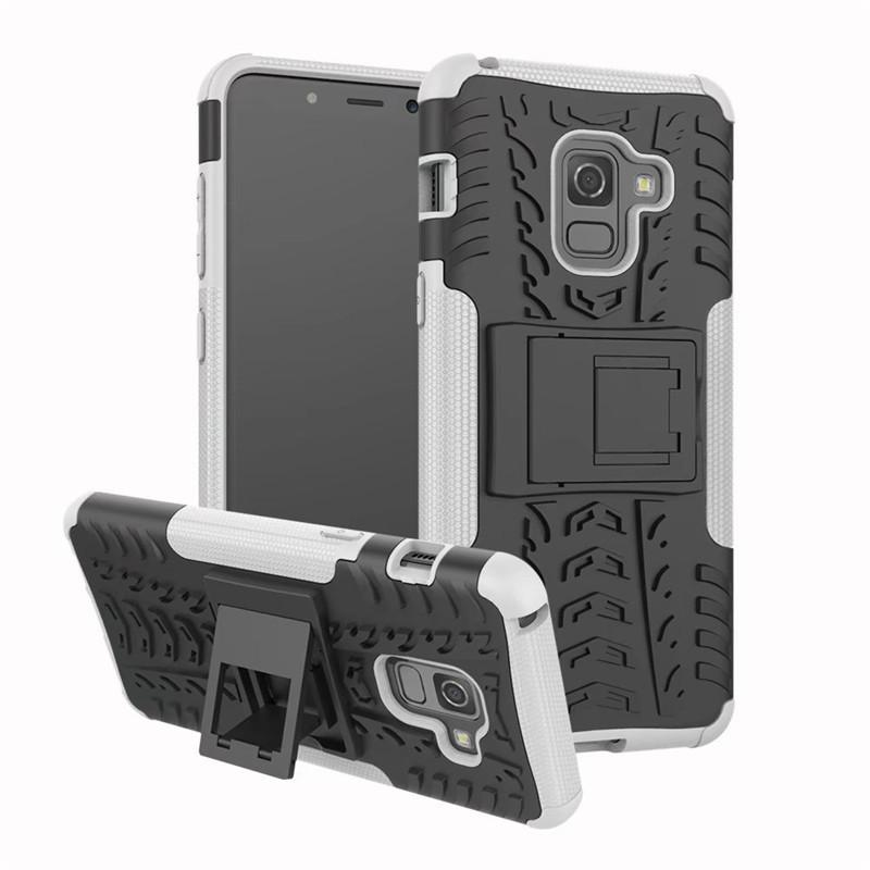 Dazzle Hybrid Impact Rugged Armor Hülle für Samsung Galaxy S9 Plus A5 A7 2018 J2 Pro Note 8 Stoßfestes Cover mit Ständer
