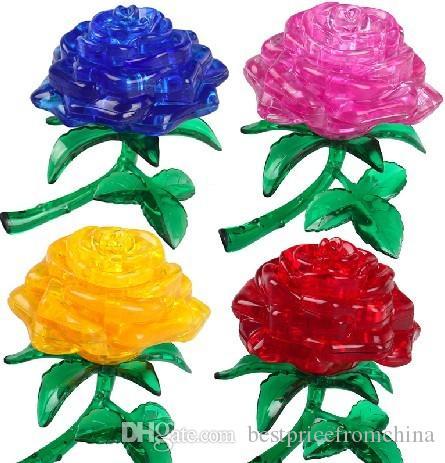 Rose 3D Crystal Jigsaw Puzzle 44PCS