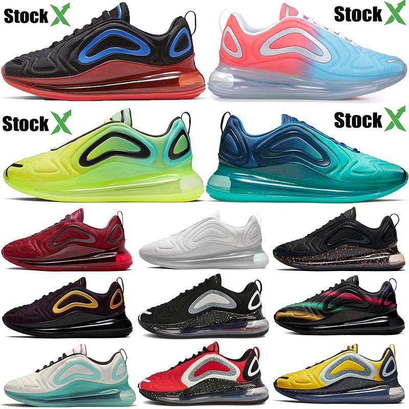 2020 Cojines 720s hombres mujeres zapatos corrientes negro volt medianoche azul marino Encubierto brillante Citron rosa mar Triple Negro diseñador zapatillas deportivas