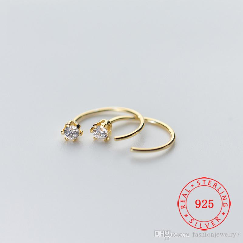 most selling products stud high quality 925 silver cz earrings gold plated earring arrival jewelry