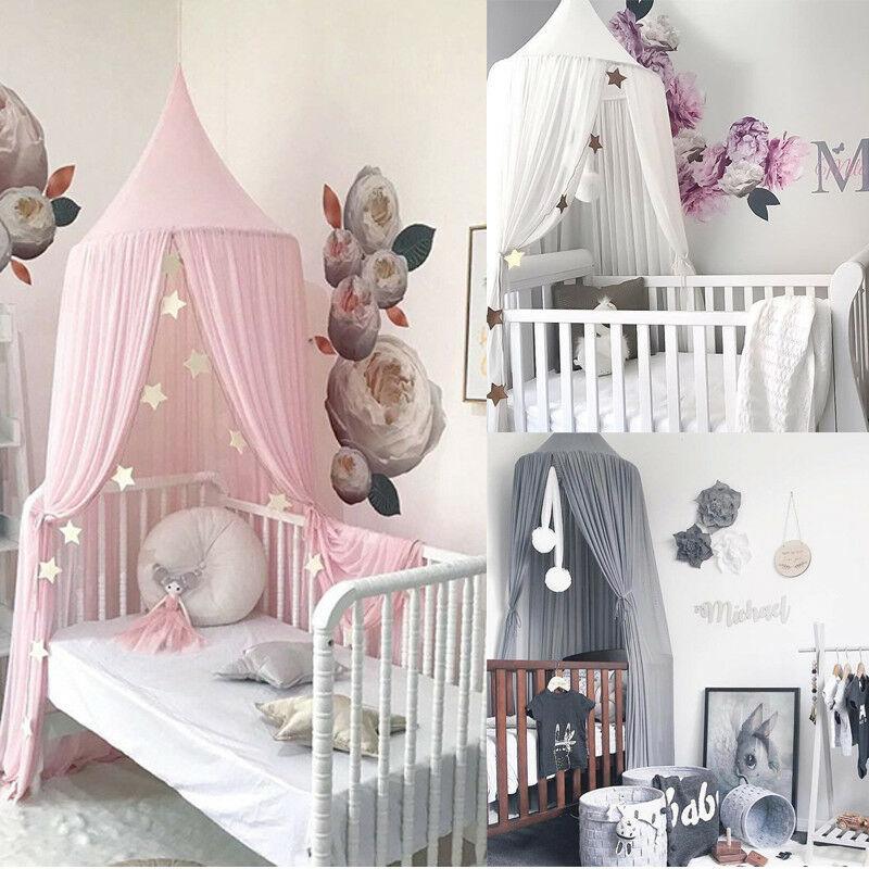 HOT Vente 4 Couleur Moustiquaire bébé Enfants Princesse Literie Tente dôme Canopy Couvre-lit moustiquaire