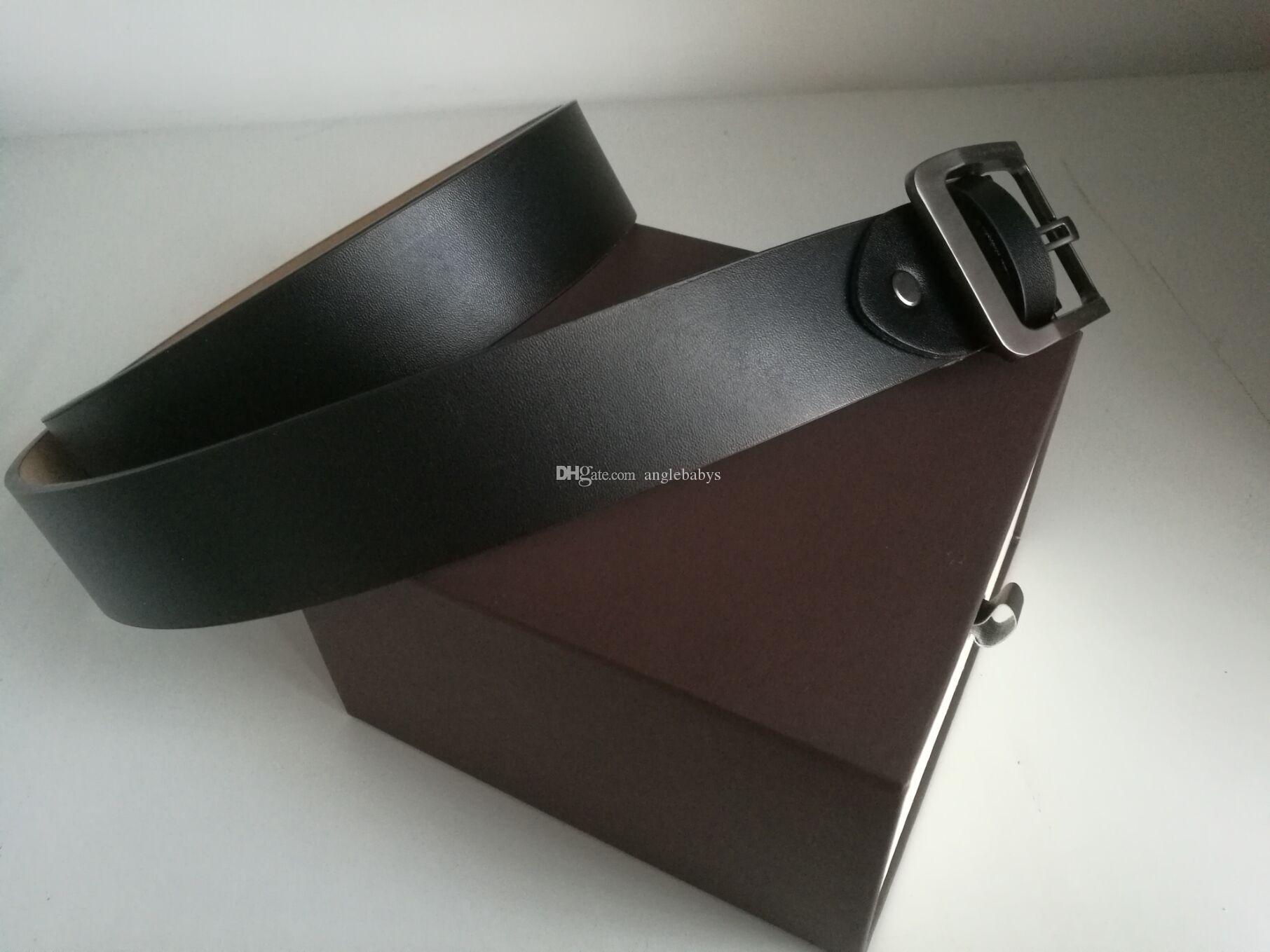 Cinghie designer Men Belt Belts cinture in pelle Designer commerciali Lusso puro Colore della cinghia della grande fibbia in oro Regalo Trasporto con la scatola