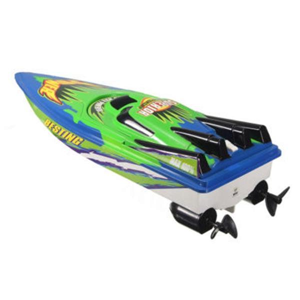 RC Boat Radio Télécommande double moteur haute vitesse bateau de course RC Toy cadeau pour les enfants Eu prise