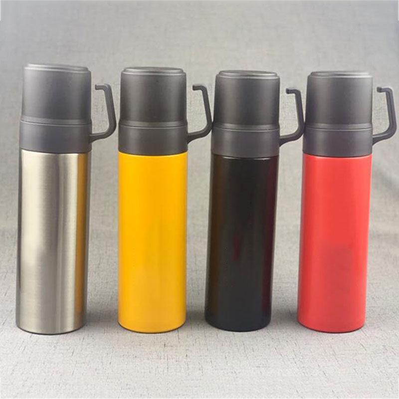 20 Unzen Einfache Vakuumflasche Gift Cup kreativer Double Wall Qualitäts-Edelstahl-bewegliche Wasserflasche
