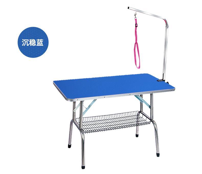작은 애완 동물 휴대용 운영 표 고무 표면 목욕 데스크 블루 핑크위한 저렴한 접이식 스테인레스 스틸 애완 동물 미용 표