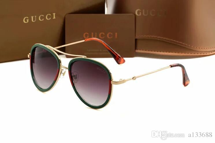 Neue optische Runde Resin Sonnenbrillen für Männer Frauen arbeiten fahren Sonnenbrille Marke Designer Retro Vintage-Sonnenbrille UV400