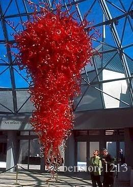 램프 100 % 입 블로운 붕 규산 마운트 유리 펜던트 실내 조명 아트 홀 라이트 로비 팝 천장 조명에 대 한 큰