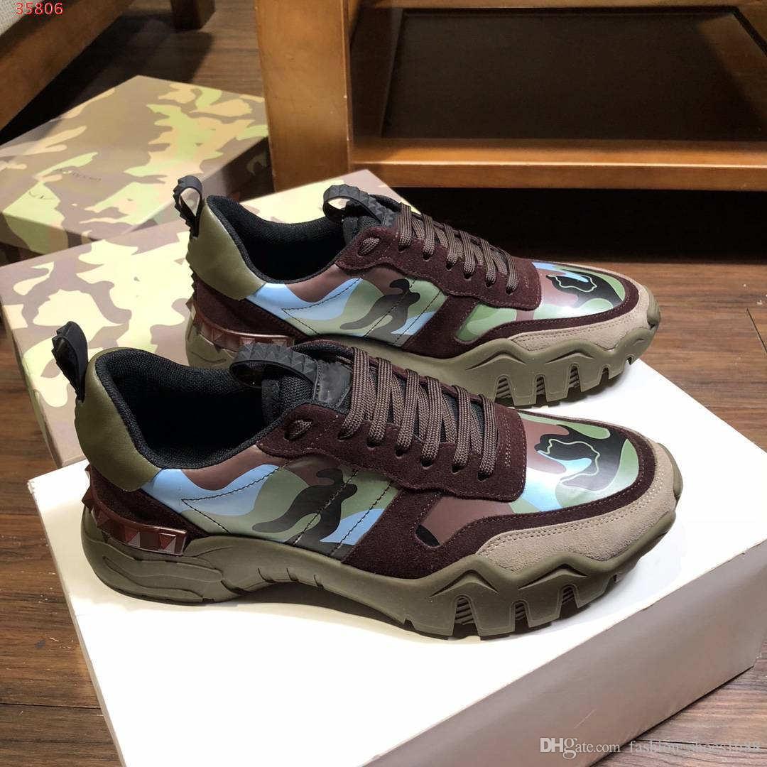 Ранняя весна маскировочные контракт досуг Камуфляж обувь ведущих поставщиков качественных мужчин прогулочной обуви украшение дизайн граффити печать