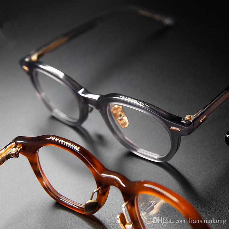 Hohe Qualität Acetate Freizeit Geschäft Artgläser Männer Retro Vintage Brillen Frauen Optische Brillengestell Polygon