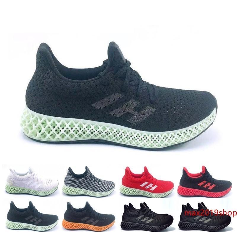 2019 Futurecraft 4D Runner Chaussures de course pour homme femme Ash Vert Triple Noir Blanc Rouge Hommes Designer Entraîneur Sport Sneaker Taille 6,5 à 12