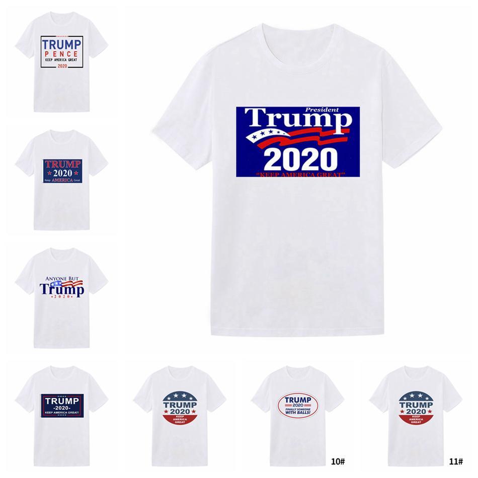 Мужчины Donald Trump 2020 Футболка O-Neck США Выборы с коротким рукавом рубашки Trump печать футболки письма Топы Tee Shirt 11styles LJJA4068