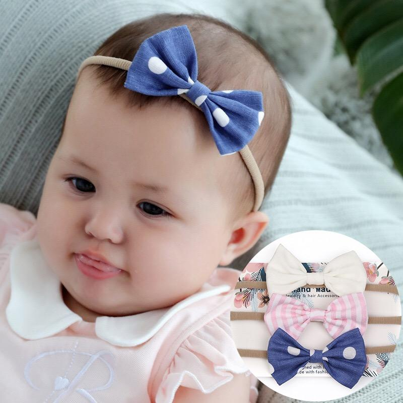 Bambino fascia dei capelli dell'arco nuovi bambini cotone canapa fascia ragazza arco Traceless accessori per capelli di tiro copricapo neonato puntelli 80531