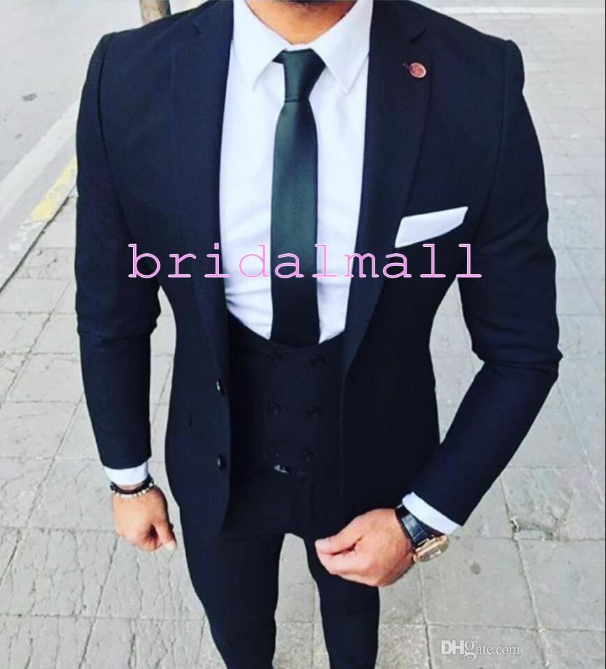 Hot Sell 3 Pcs Mens Formal Wedding Suits Party Evening Dress Blazers 10 Colors