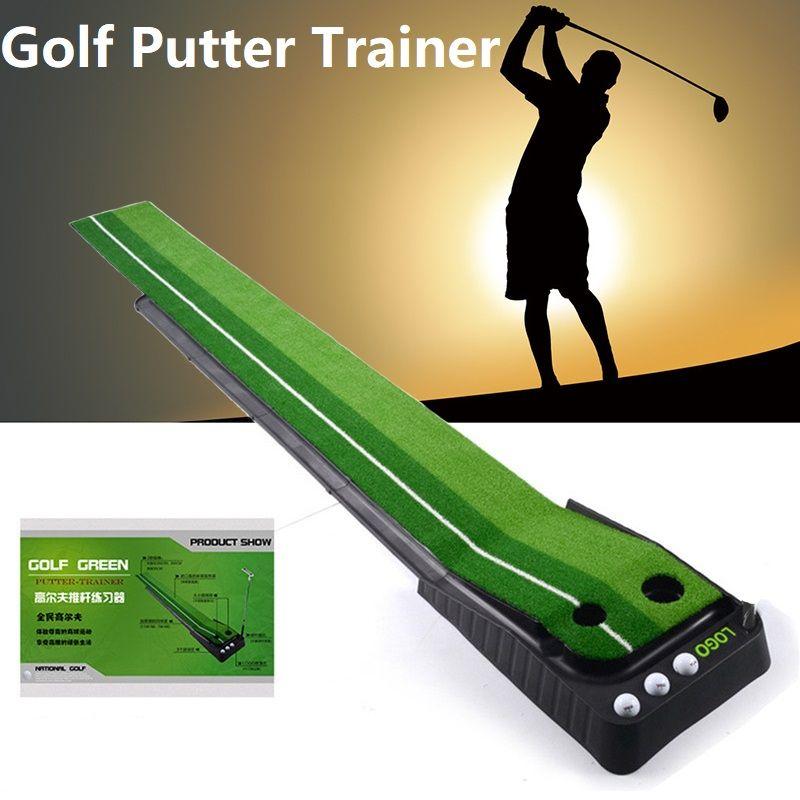 2.5M/3M Indoor Golf Putting Trainer Portable Golf Practice Putting Mat Golf Putter Trainer
