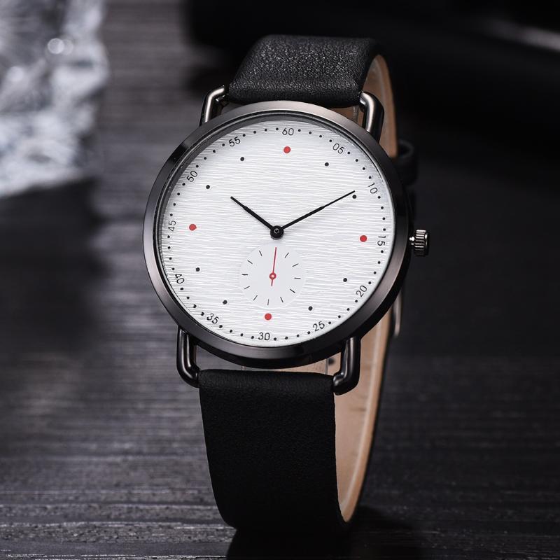 Minimaliste Montres Hommes Band en cuir Simple Fashion Designer Montre Homme Casual Male Montre Quartz Horloge Relogio Masculino 2020