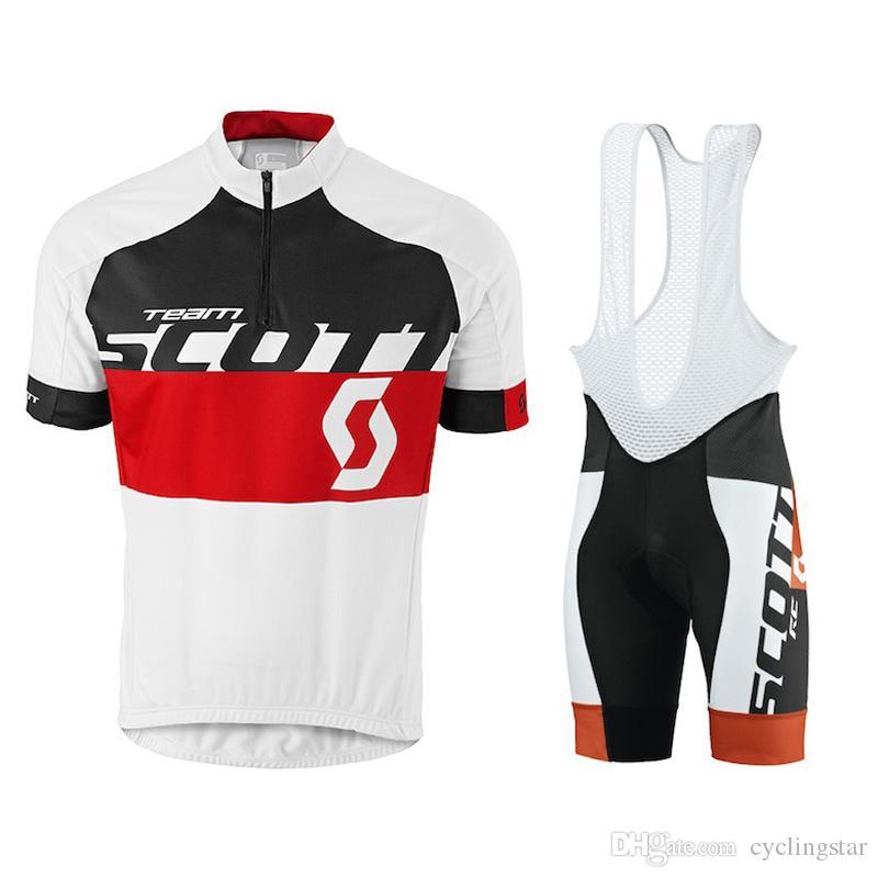 Erkekler SCOTT Bisiklet Jersey 2020 Kısa Kollu hızlı kuru Dağ Bisikleti Giyim Bisiklet Sporları uniformes ropa ciclismo hombre Y051315 Wear setleri