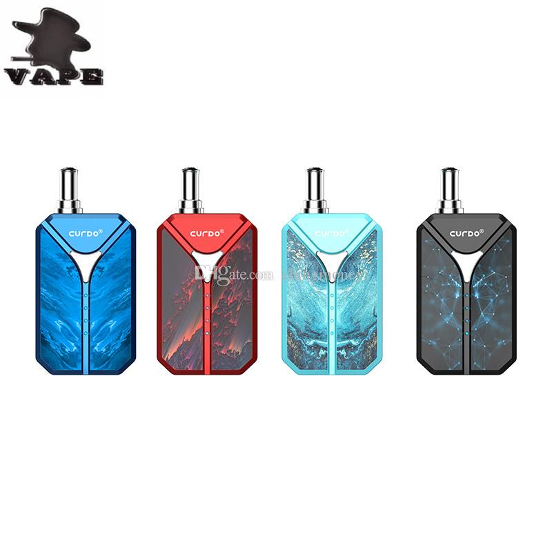 Original Curdo Octantis Vaporizer Box Mod Vape Kit 400mAh Battery Variable Voltage Vape Box for 510 Thread Thick Oil Cartridge Carts Tank
