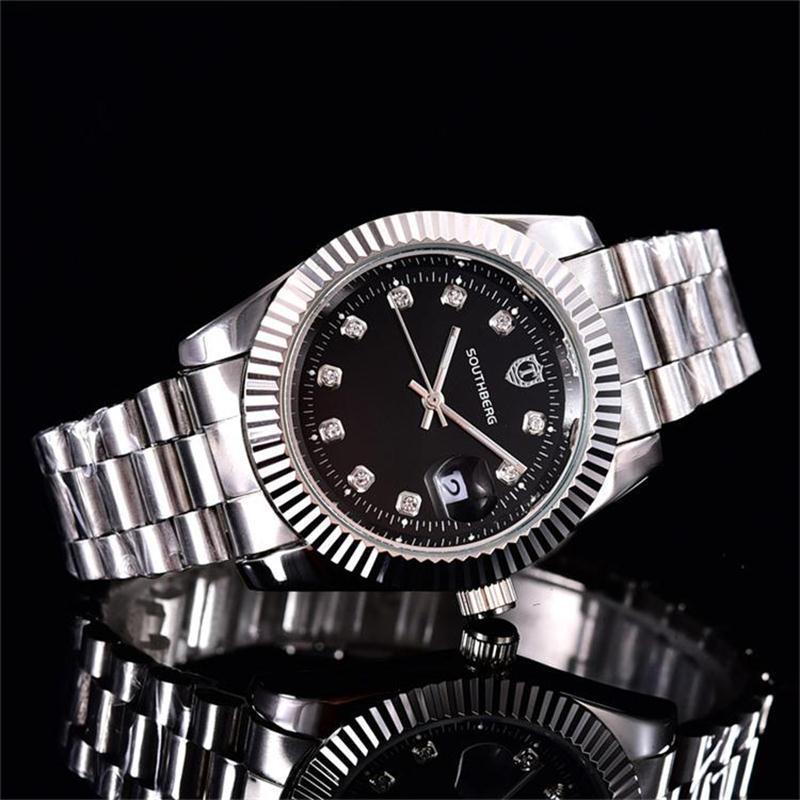 40 mm / relojes de las mujeres de los hombres de lujo al por mayor las mujeres famosas de cuarzo función de marcación del reloj del calendario del Rhinestone de los relojes de cuarzo relojes 66