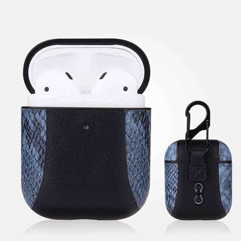 Funda protectora de AirPods medio de Bluetooth Headset cubierta para el patrón serpiente de la manera AirPods caja de almacenamiento remiendo 7 colores al por mayor