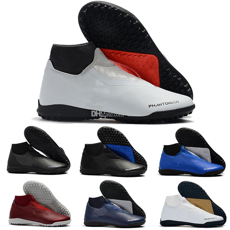 New Phantom Vision Academy Df Ic Tf Vsn Mens Indoor High Ankle Soccer Cleats Kids Football Shoes
