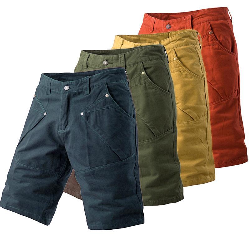 MEN/'S SUMMER CHECK 6 POCKETS BOYS COMBAT CARGO ZIP FLY PANTS SHORTS PLUS SIZES