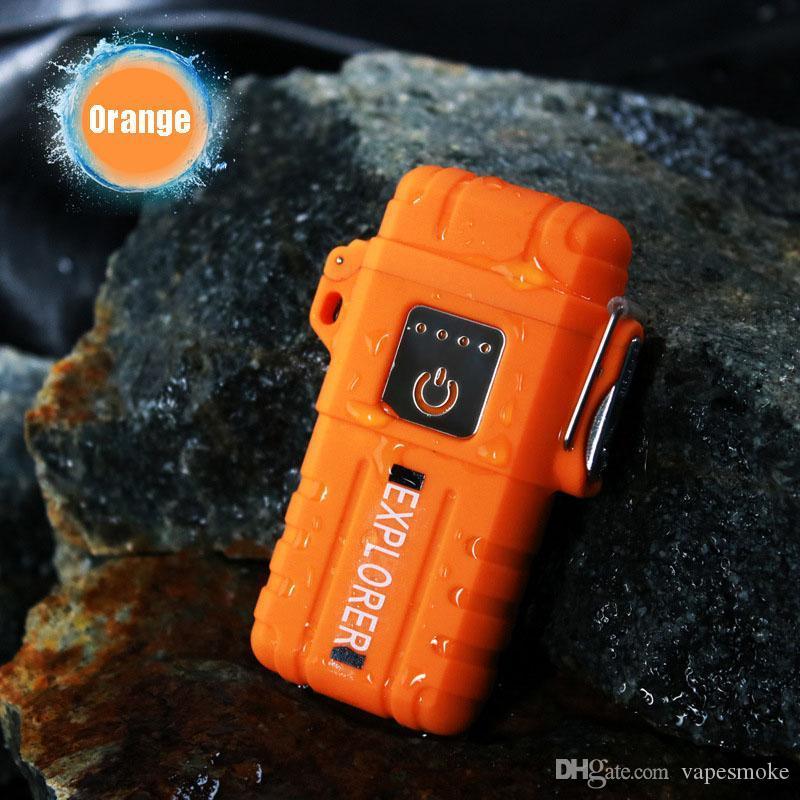 Kreuz-Doppelt-Arc Lighter Touch-Wasserdichte USB Charge Feuerzeug Feuerzeug-Outdoor-Camping-Artifact Raucherzubehör