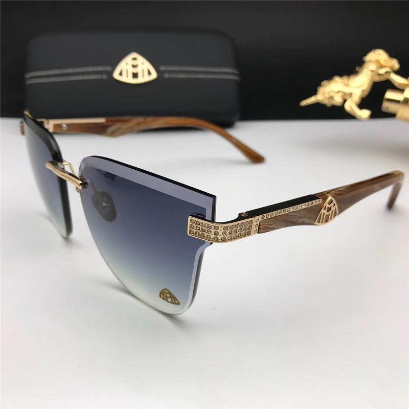 Rimless pilota Occhiali da sole di stile per donne degli uomini Scelta colorato per l'estate di lusso Carter Occhiali di qualità eccellente all'ingrosso Frames 8099