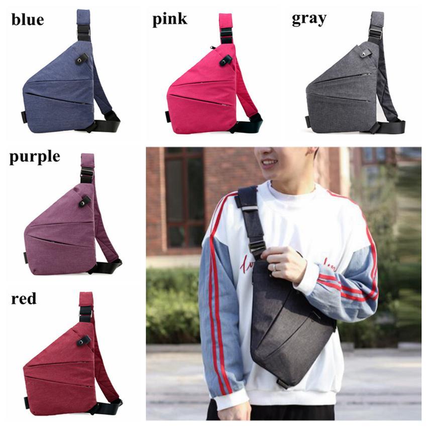 memorizzazione digitale bag pistola sacchetto di nylon petto maschile lanciato tasche sportivi impermeabile casuale spalla personali antifurto bag LJJZ322-1