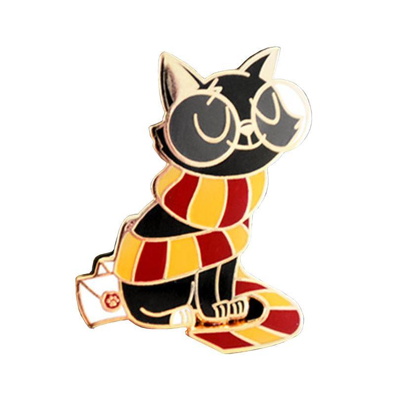 Jackson gato assistente broche de bruxaria jóias dom coleção fãs engraçados Potter bonitos da mágica animais badge
