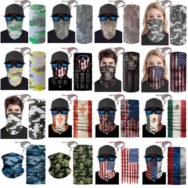 Bandanas Face Scarf Seamless Neck Warmer Sport Cycling Headband Neck Tube