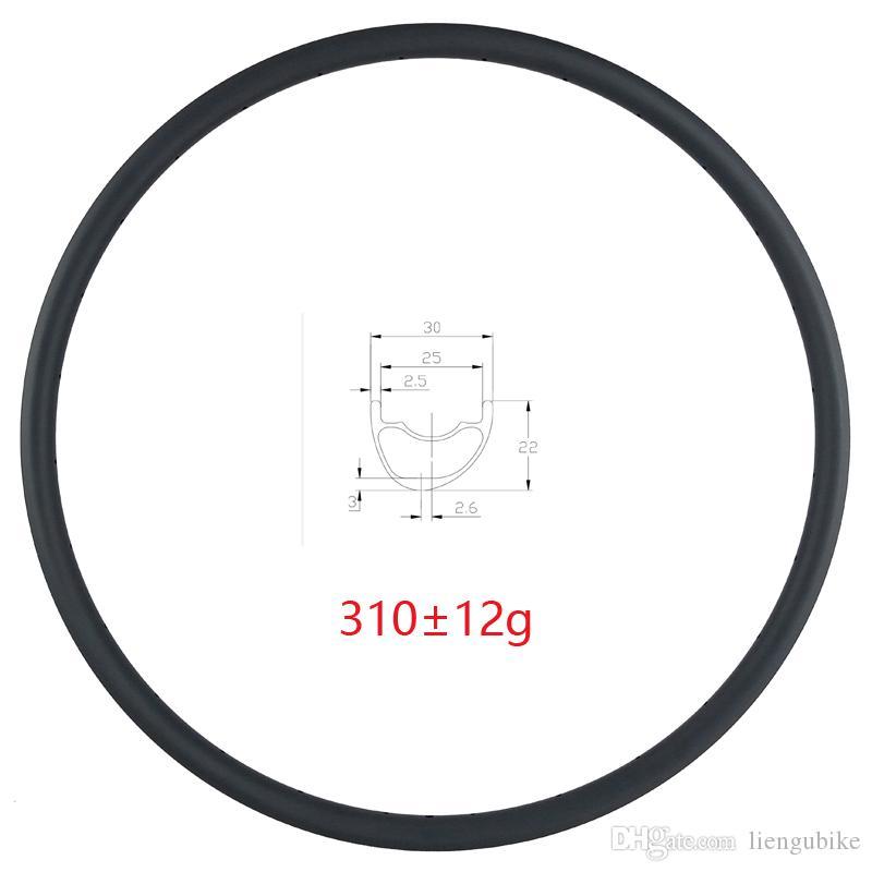 LIENGU light 310g 29er MTB XC 30mm asymmetry tubeless hookless carbon rim 25mm inner width for 29 inch cross country mountain bike wheel