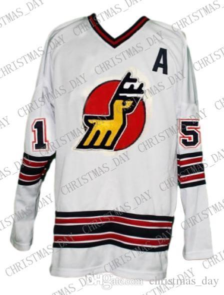 Personalizado Michigan Veados Hockey Retro Jersey New White personalizado costurar qualquer número qualquer nome Mens Hockey Jersey XS-5XL