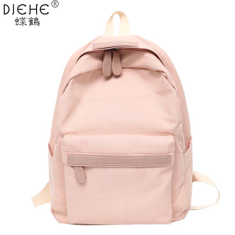 2019 lona de las mujeres mochilas señoras de hombro del bolso de escuela mochila del morral para las muchachas bolsa de viaje de la moda Bolsas Mochilas Mochila Y200103