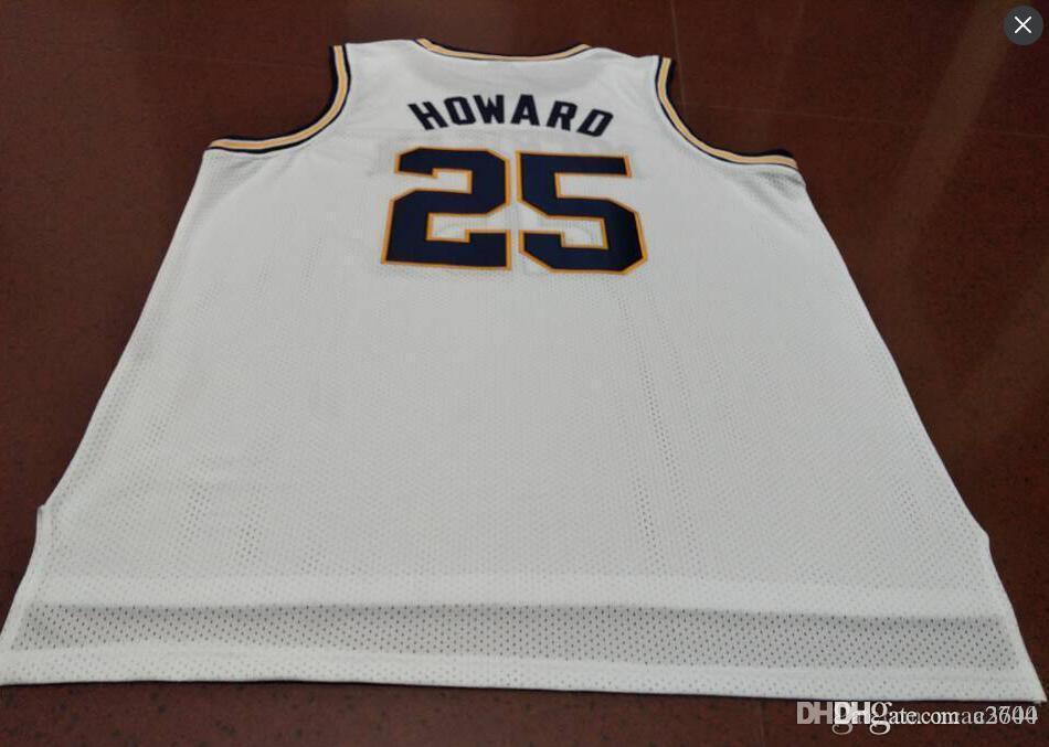 Benutzerdefinierte Männer Jugend Frauen Weinlese # 25 Juwan Howard Michigan Basketball-Jersey-Größe S-4XL oder benutzerdefinierten beliebigen Namen oder Nummer Jersey