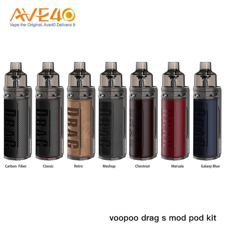 Original Voopoo DRAG S Pod Kit Powered by 2500mAh Built-in Battery 4.5ml DRAG S Cartridges Vape