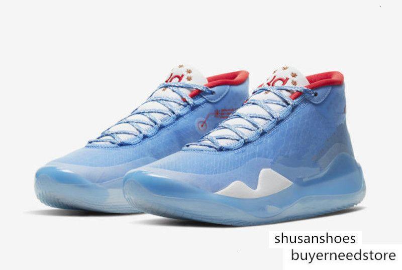 2020 de alta qualidade Kevin Durant 12 Don C x XII azul Homens tênis de basquete loja KD13 Sneakers Com entrega gratuita caixa Tamanho 7-12