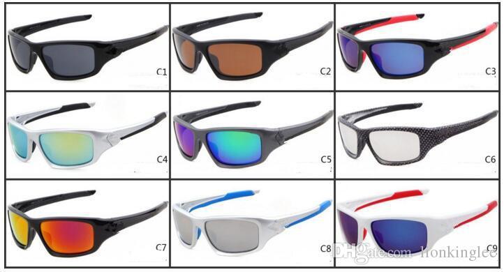 New Summer Cycling Brand Sports Dazzling Eyeglasses Fashion Sunglasses Women Men Goggles Reflective Coating Sun glasses 9 Colors 2072