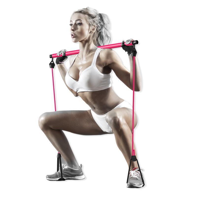Yoga Tonique Bar Gym Pilates exercice Démonté Bar bandes de résistance électrique Home Fitness Vitesse longueur réglable Bandes de Crossfit
