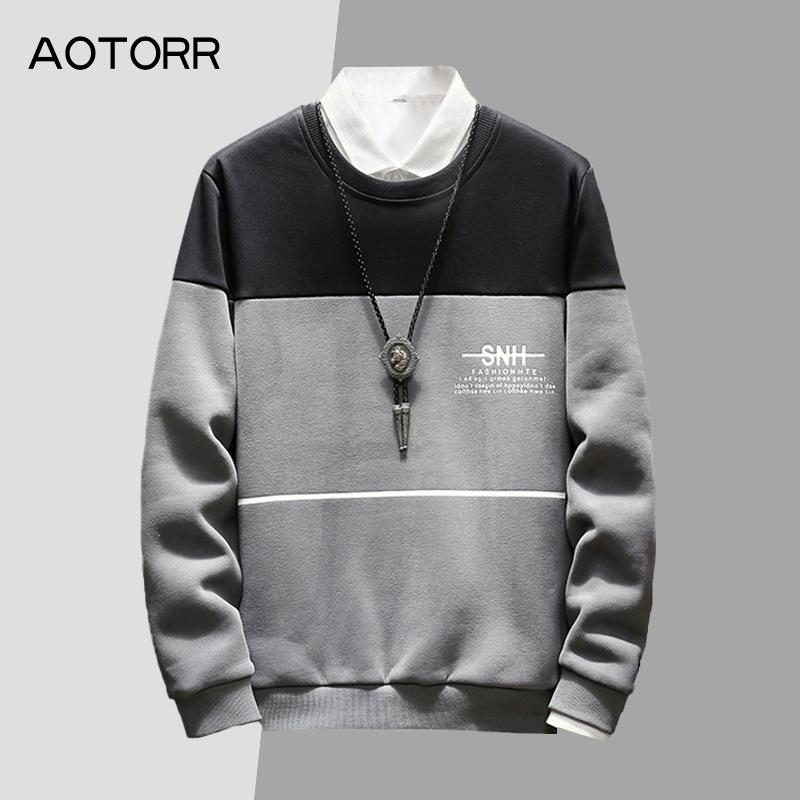 2019 New Warm Fleece Men's  Hoodies Sweatshirts Fasion Hoody Man's Clothing Spring Winter Coat Casual Male Hoodies Pullover