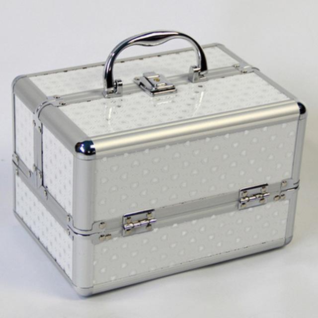 Tragbare Professionelle Kosmetiktasche Koffer Für Kosmetik Große Kapazität Frauen Pinsel Make-Up Box Große Kapazität Reisetaschen