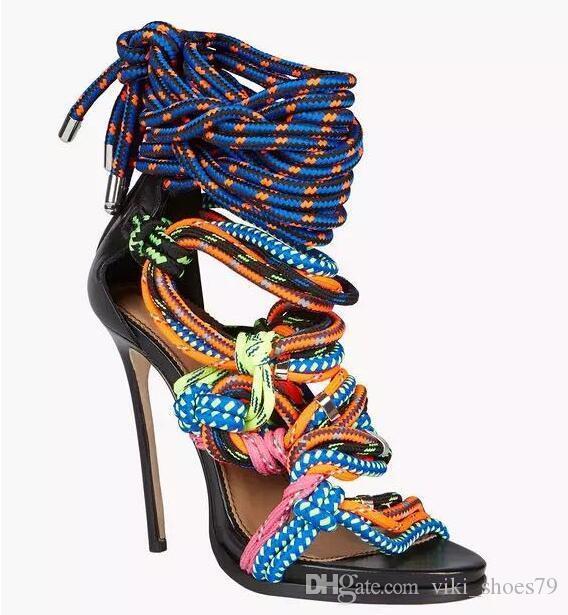 Célèbre super star T show sandales sandales à bout ouvert gladiateur sandales à talons discothèque sexy chaussures de danse femme fête de l'été chaussures dames favorables