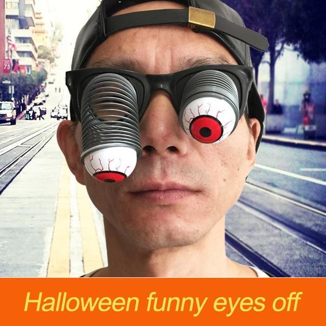 Halloween Eyeball Glasses Horror Scary Pop Out Dropping Eyeballs Glass Party Supplies Funny Joke Toys For Party Decoration Festival Gifts