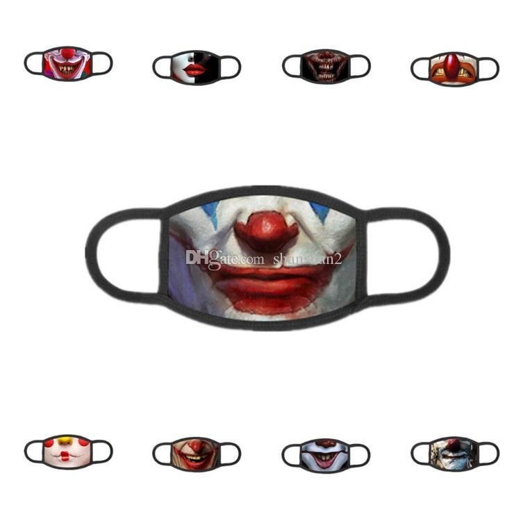 nuevo 3D impreso a prueba de polvo lavable y transpirable máscara en una cara de la personalidad diseñador de la máscara de la máscara interesante T2I5960