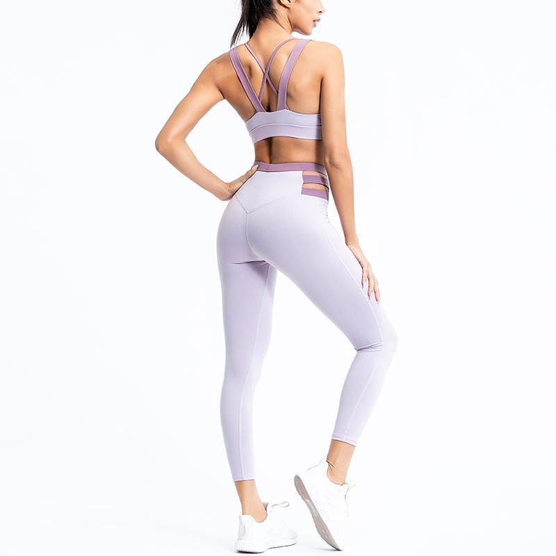 PENERAN engole Roupas De Treino Para Mulheres Vestuário de desporto Conjunto Profissional de ioga 2020 Vestuário de ginástica fato de Fitness Mulheres Roxo Azul