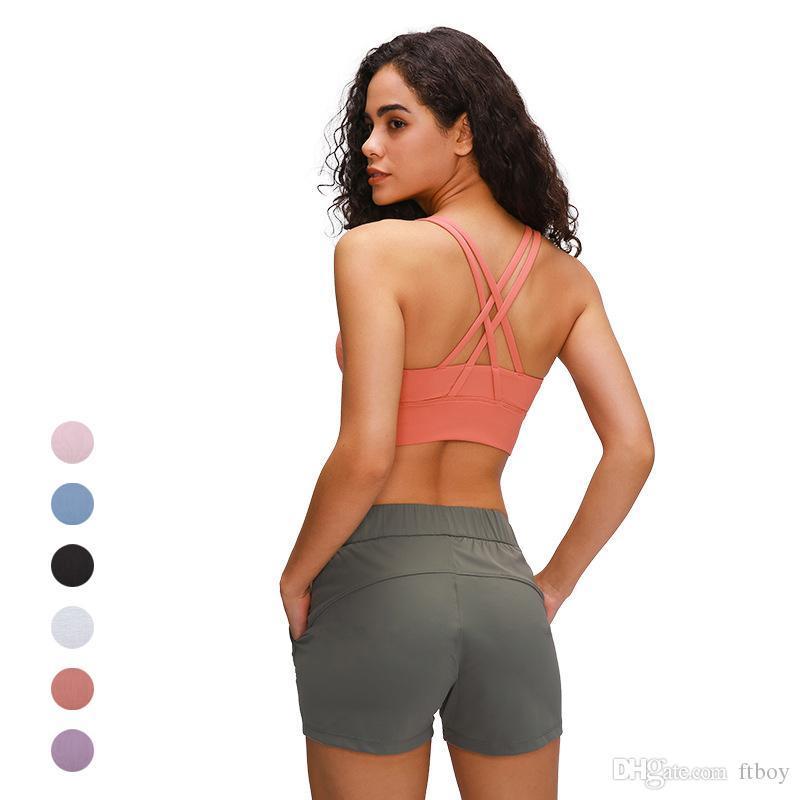 2020 mangas Tee tapas de la camisa Femme Volver Cruz Deportes Top Mujeres Yoga Fitness Gym Top Ropa Negro Camiseta de entrenamiento para mujeres