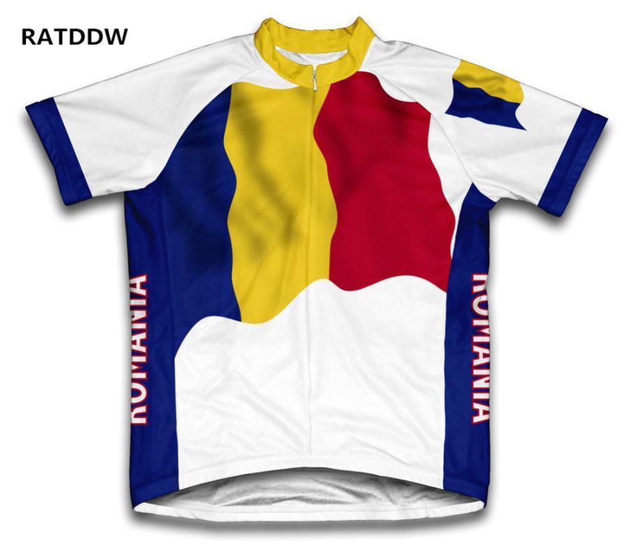 Roumanie Drapeau Hommes Cyclisme Jersey Vélo de montagne Vélo Vêtements / Vêtements de sport Racing Cycle Maillots Ropa Ciclismo