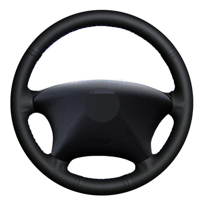 cosido a mano de dirección de coches Cubierta de rueda de cuero Negro artificial para el Xsara Picasso 2003-2010 Socio 2003-2008