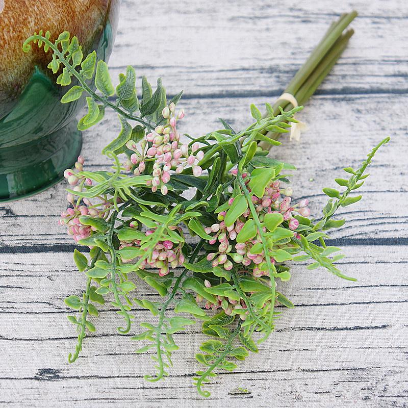 Flor artificial Arrangment fuentes de DIY Flores de frutales ramo de clavo de olor con hojas para la decoración del hogar decoración de la boda corona