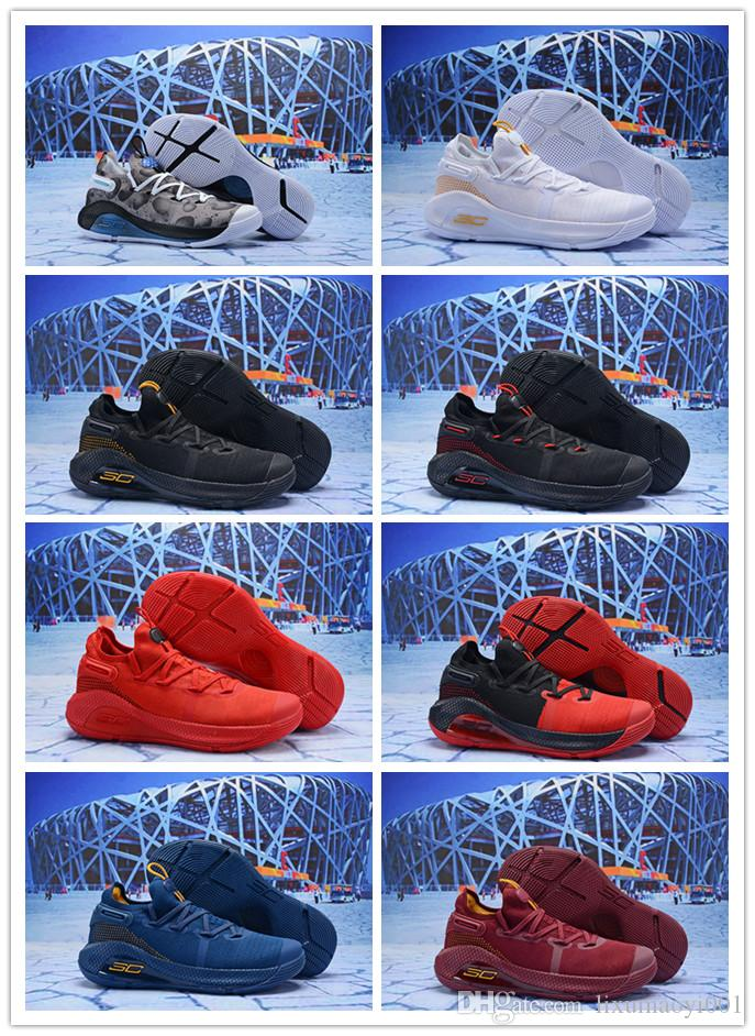 9df8b6d35ed Mens curry 6 basketball shoes new Fox Black Green Red Rage Christmas Blue  Stephen Currys vi sports sneakers boots