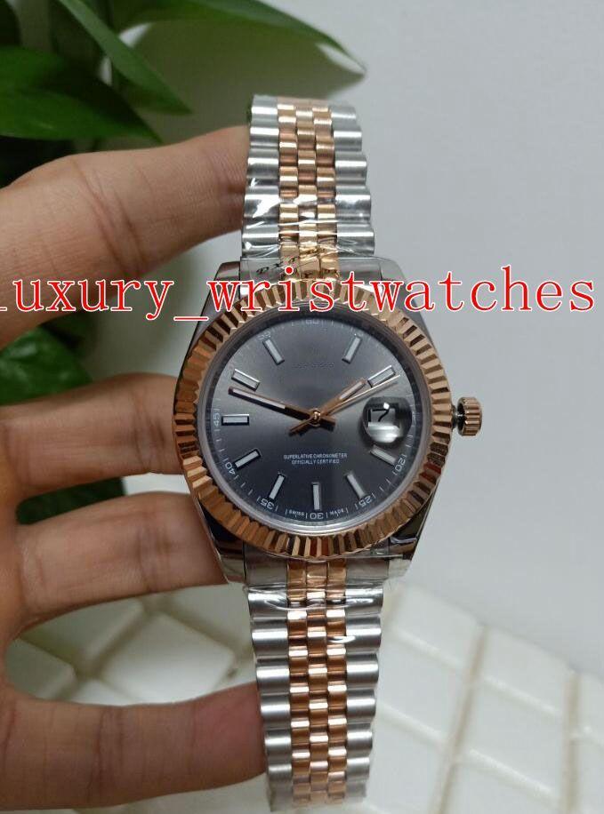 Moda Yüksek kaliteli saatı Datejust 41mm 126231 18k Rose Gold jübile bilezik 2813 Hareket Mekanik Otomatik erkek seyretmek izle